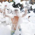 Fiesta espuma infantil - actividades en familia - activitats en familia